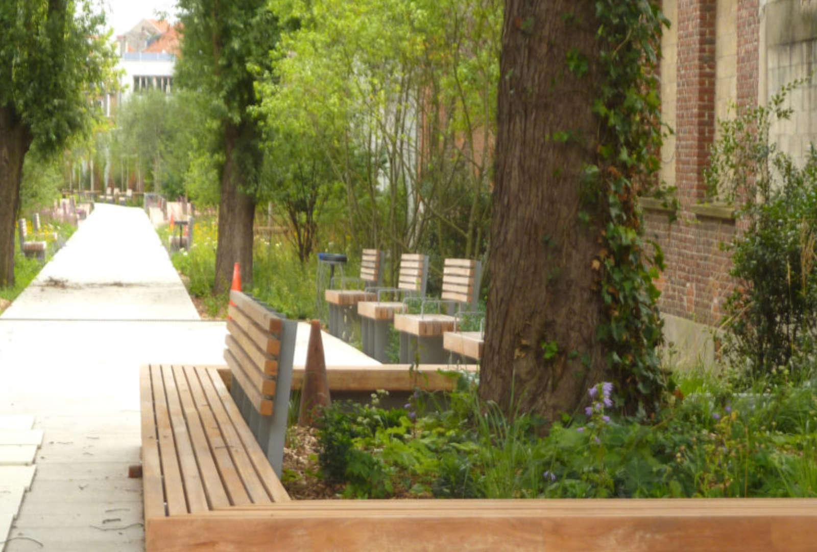 Le parc de la Sennette, un nouveau parc urbain dans le centre de Bruxelles